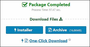 Duplicatorから移行用のインストーラーとアーカイブをダウンロードする