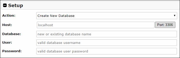移行先のWordPressのホスト名とかデータベース名とかパスワードを入力