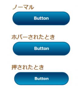 CSSでカスタマイズしたグラデーションありの立体的なリンクボタンの表示例