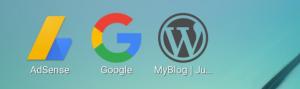 スマホmpホーム画面に表示されたファビコンの例