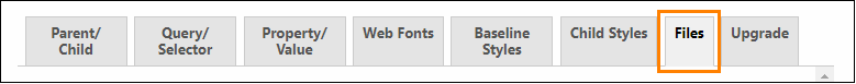 「Files」タブをクリック