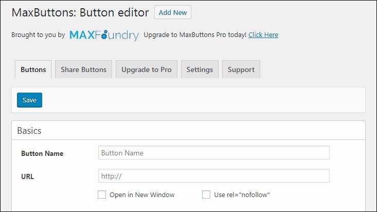 MaxButtonsのボタン新規追加画面
