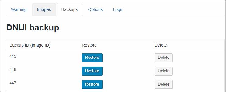 誤って削除してしまった画像は「Restore」ボタンを押せば復元できる