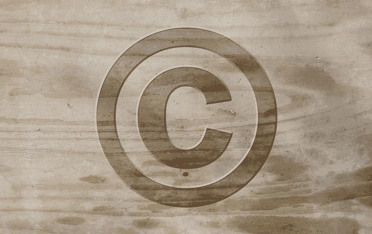 ブログ記事のパクリを防ぐ事をイメージしたコピーライティングマークの画像