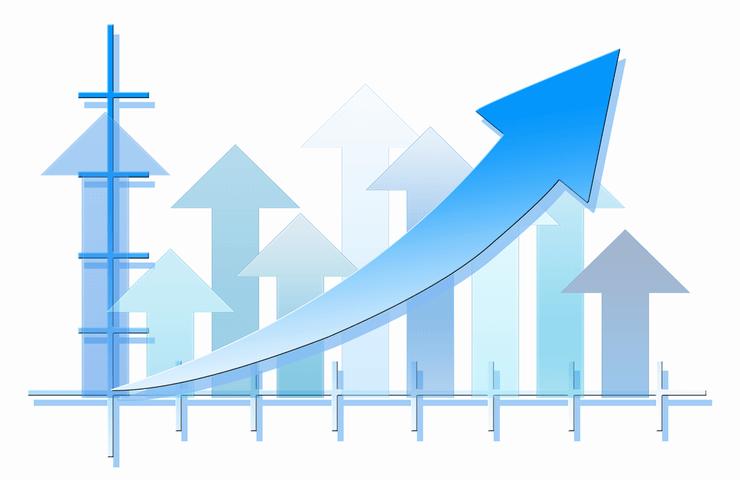 成果はすぐに出ないことを表す成功曲線のイメージ