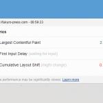 マイブログの Web Vitals (LCP, FID, CLS) を測ってみた